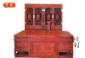 东阳鲁创红木家具非洲花梨木/缅甸花梨木书房办公桌/写字台